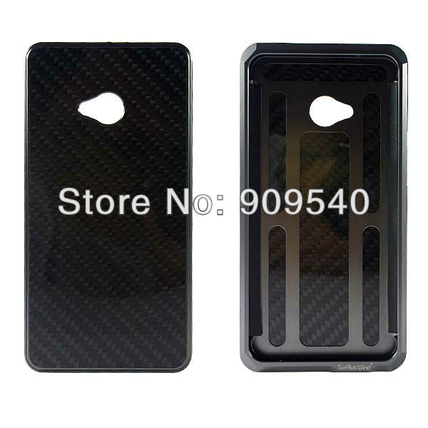 HTC one M7 aluminum carbon fiber case (5)