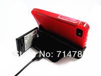 двойной Рабочий стол USB зарядки колыбель с слот запасной аккумулятор зарядное устройство для blackberry z10