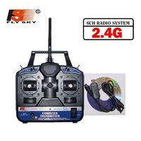 F03417 FlySKY FS 6CH 2.4G FS-CT6B 6 channel RC controller Transmitter & receiver for Heli/Airplane/Copter + Freeship