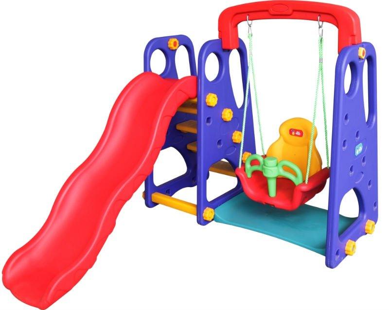 Elephant Plastic Kids Slide And Swing (baby Toy) - Buy ...