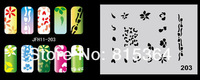 Beautiful Design Airbrush Nail Art Paint Stencil Kit Design Set MJ-009 Free Shipping