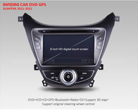 Автомобильный DVD плеер Solaris Verna Elantra IX35 I25 IX45 Santa FE dvd gps for HYUNDAI with radio bluetooth 2012 2013/ 8G map card gift High quality