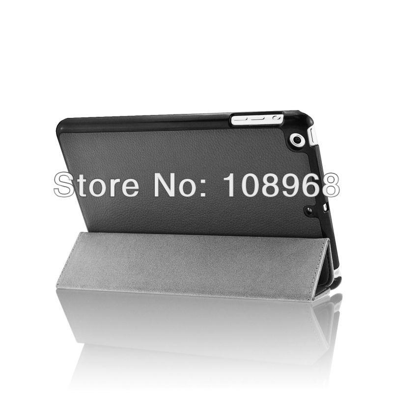 Auto Wake Sleep Function, 3Fold leather cases For Ipad Mini Retina leather case,Black