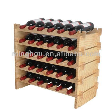 Деревянная подставка для бутылок вина своими руками