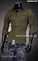 Мужская повседневная рубашка Jeansian SliM fit Casaul t 8001 s M l XL xXL