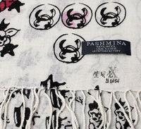 Женский шарф Women's Wool Scarf Print Pattern Long Scarves Brand Designer New Black White SW0019