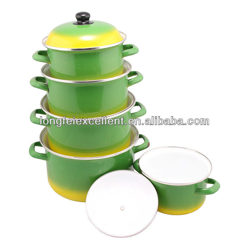 Best Selling Products Turkey Porcelain Enamel Cookware Sets