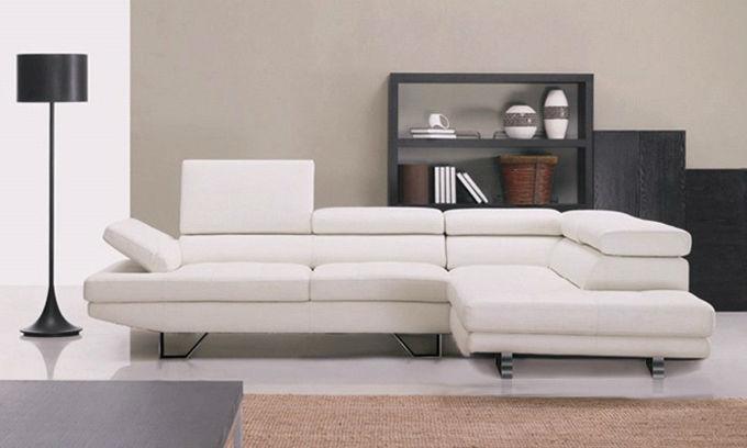 Conjunto de sofá de canto de couro designer insinuante sofá sofá ...