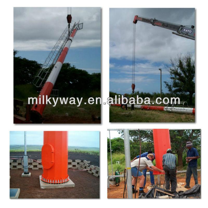 2015 best selling electric transmission line steel pole lighting