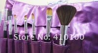 Кисти для макияжа Purple Beautiful NEW 7 pcs make up makeup Cosmetic Brush Set with soft roll-up purple case easy carry