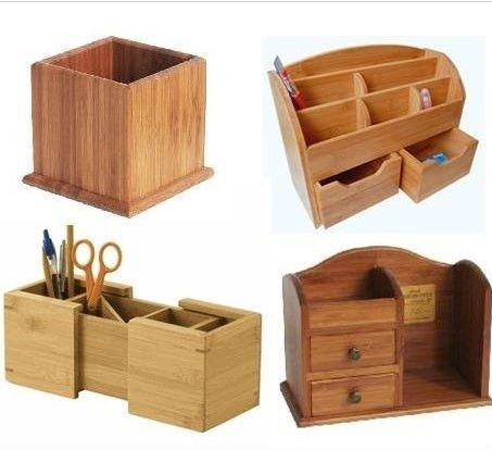 bambou porte stylo en bois bambou bois bureau organisateur bureau accessoire pot. Black Bedroom Furniture Sets. Home Design Ideas