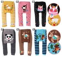Брюки для девочек 18 pcs/lot Children Kids PP Pants Long Trousers Cartoon Legging Cotton Baby Boys Girls Wear NEW Design LC0785