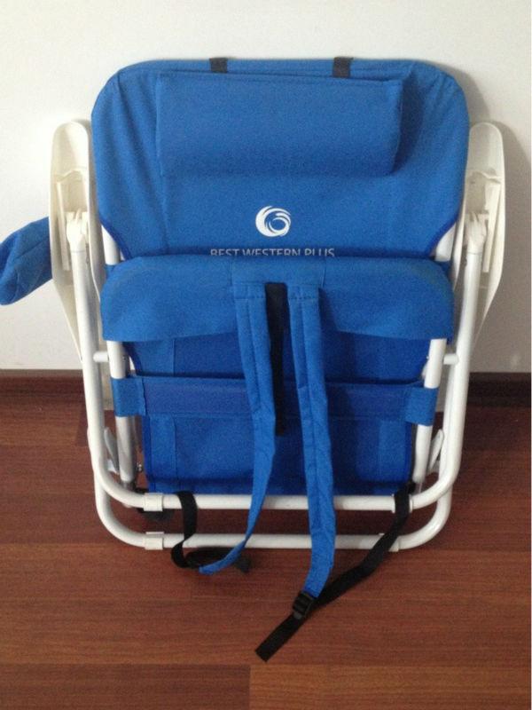 heavy duty sac dos pliage chaise de plage avec rembourr. Black Bedroom Furniture Sets. Home Design Ideas