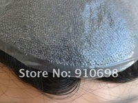 Небольшой парик Virgin Brazilian Human Hair Super Fine Swiss Lace Men's Toupee