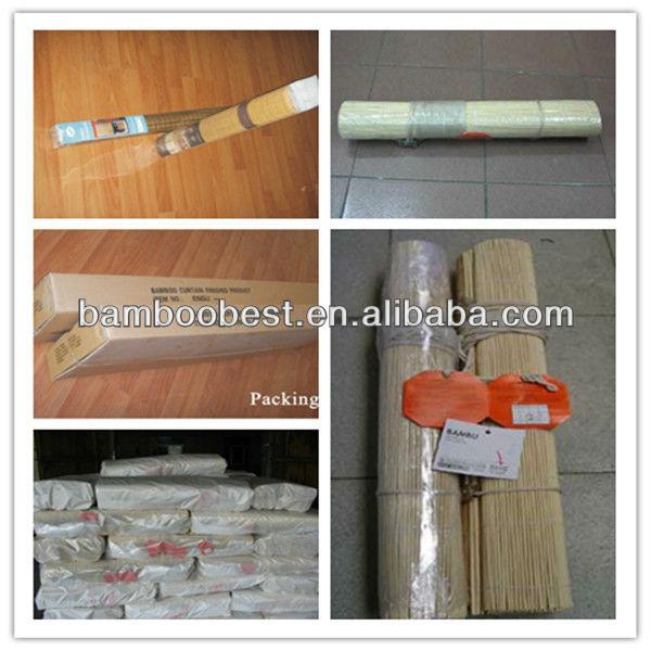 Smooth surface beautiful pattern natural grain bamboo curtain