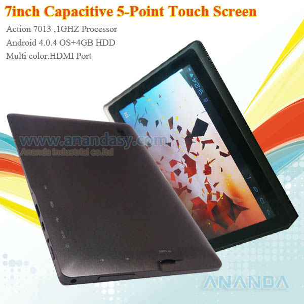 $38/pc android 4.0 7 tablet pc with hdmi