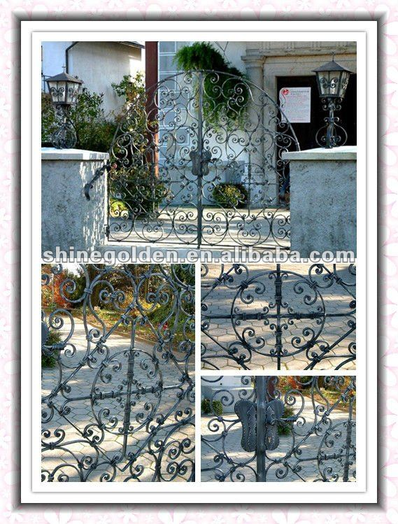 WH-0123A wrought iron main fence gate grill design