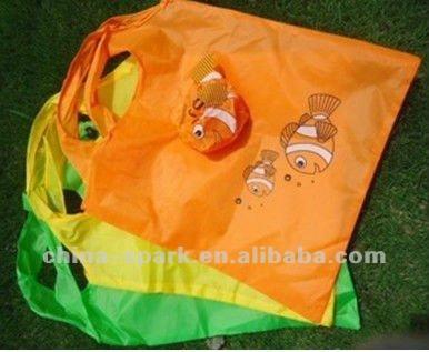 Ployester Rose Shape Folding shopping Bag