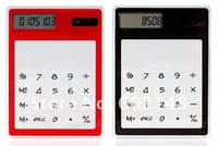 Калькулятор 5 Pcs/Lot Hot Sale LED calculator Solar power touch screen calculator 5mm ultrathin calculator
