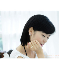 Кольцо Generous Korean Fashion Ring, Imitation Diamond Crown Rings R591