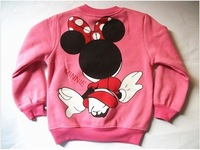 Кофта для девочки Retail 2012 autumn winter spring best spring cartoon minnie kids sweatshirt girls coat age 4-9 Y