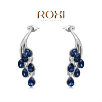 Серьги-гвоздики ROXI elegant platinum plat blue earrings, fashion jewelrys, high-end earrings for women, factory price, Christmas gifts, 2020105660