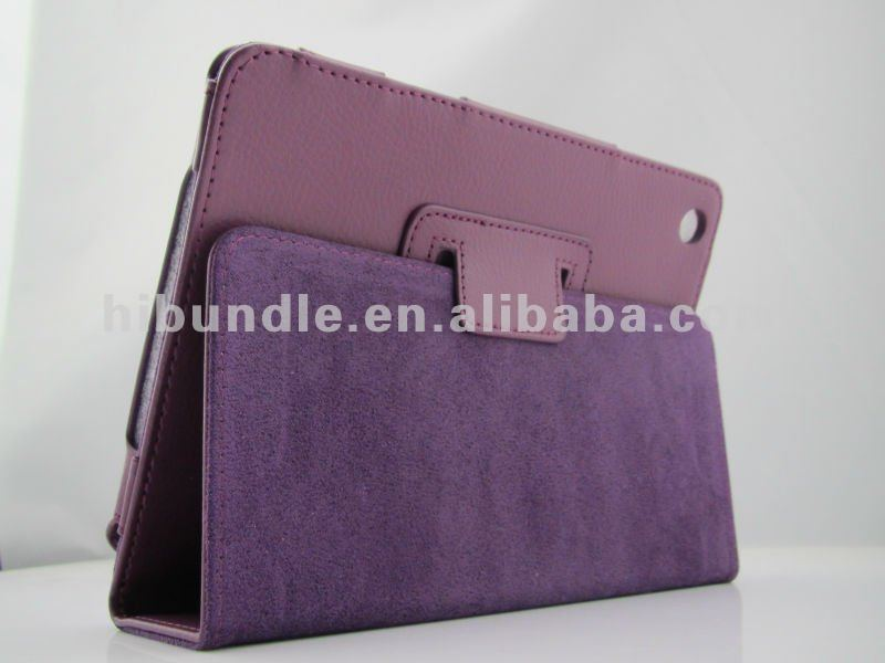 book style leather case for apple ipad mini