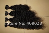 "Malaysian virgin hair.Natural Wave.Mixed Length.16""18""20""22""/lot.Color:1B.4bundles/lot.13.4OZ/lot.Free Shipping.DHL4-5days.AAAA"