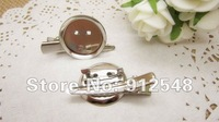 Брошь DIY brooch base 24mm 50pcs/lot Dual Brooch Back Base With Clip and Safety Pin use for brooch and hair jewelry CPAM