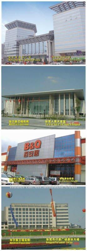 coated aluminium building facade AMCP building material