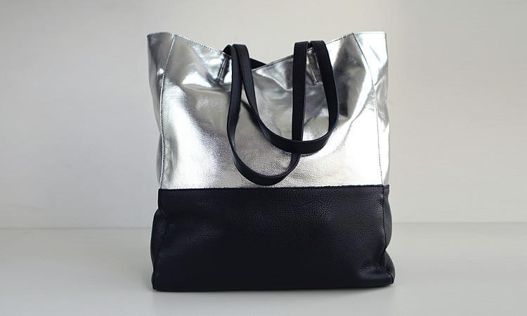 EMMA Free Shippment Cowhide Tote Shopping Bag Genunie Leather