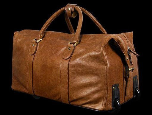 Top Newest Genuine Leather Travel Bag with carry handles