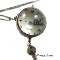 Карманные часы на цепочке HB117/high quality bronze vintage pocket watches, antique pendant pocket & fob watches necklace, Fashion jewelry