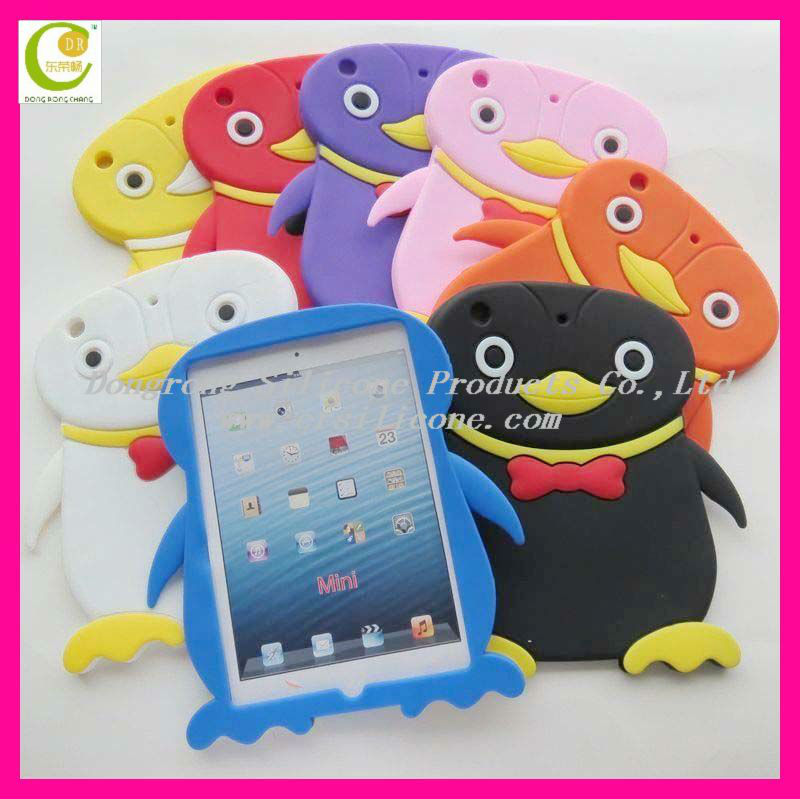 Hot selling eco-friendly material silicone bumper case for ipad 3,waterproof case for ipad mini