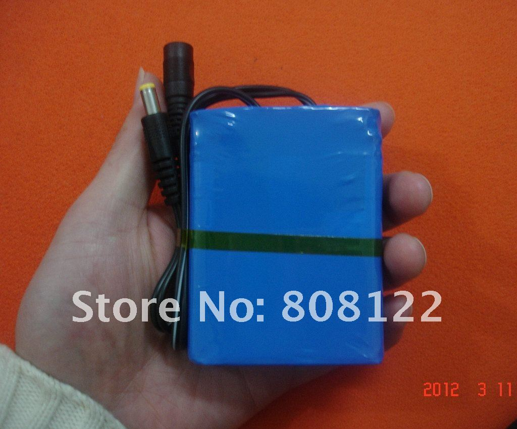 DC 12V 6800mah battery, 12V battery pack,high volume lithium battery
