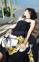 Женская туника для пляжа Black pattern sexy swimsuit essential beach gradient apron LC40346