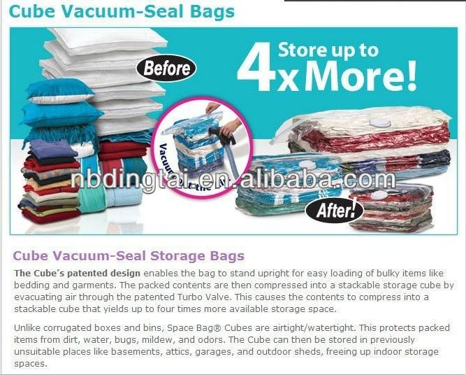 Transparent Plastic Vacuum Storage Bag For QuiltClothesVacuum