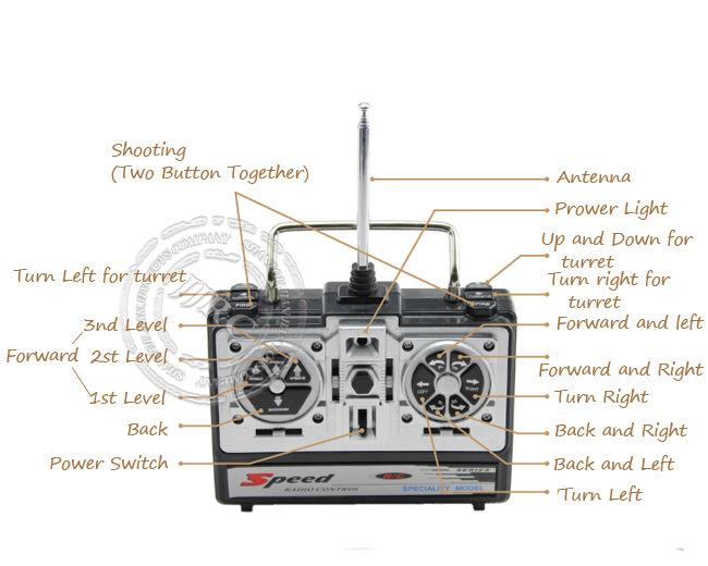4ch radio control rc military shooting tank model toys