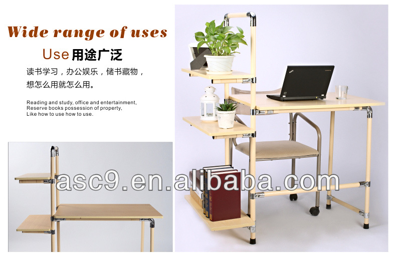 Adjustable laptop table for office and house