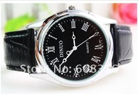 Наручные часы 2013 New fashion business leather man quartz watch high quality, more color, cheap