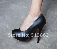Туфли на высоком каблуке Ladies Women's Fashion 14cm Sexy High Heel Dress shoes Women /Ladies Black Pump Shoes/size:35-40