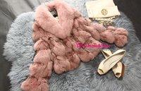 LANJUE Fur & Fur CHIC Genuine Blue Fox wool+lambs hair Lady Warm Coat Jacket Fluffy Pelts slim long fit Outwear