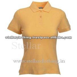 100% cotton Womens polo t-shirt - Yellow.jpg
