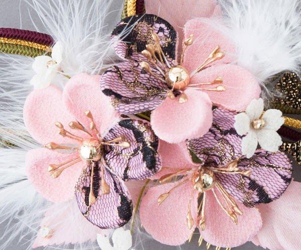 Adorno para el pelo (japonés artesanía tradicional) 1344 en caja