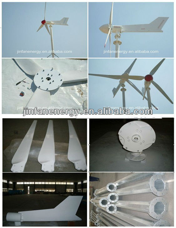Horizontal axis wind turbine/wind generator price 1kw/2kw/3kw/5kw/10kw for home