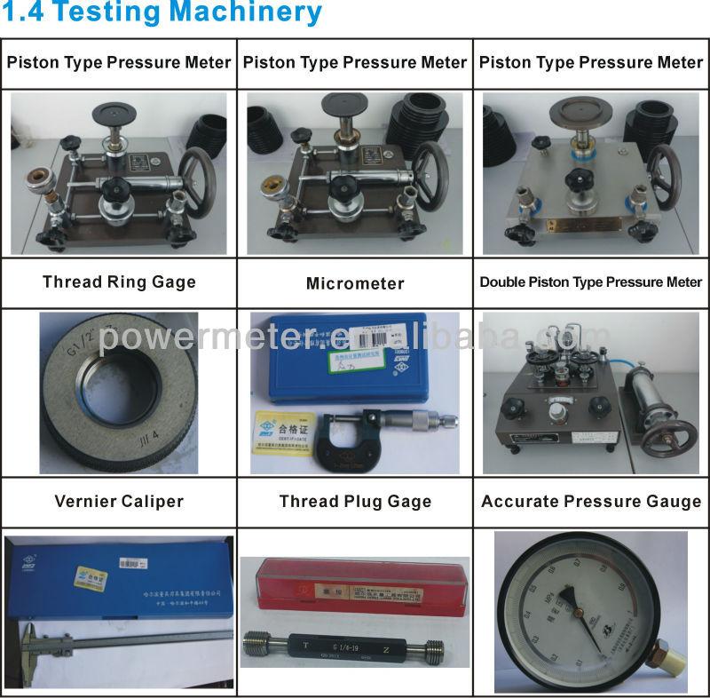 السائل قياس الضغط معبأ ytn40d-40mm/ الخلفي نوع/ حالة الفولاذ المقاوم للصدأ/ فيلابل