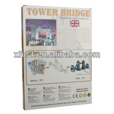 3D Puzzle Tower Bridge Model Card Kit (41x)