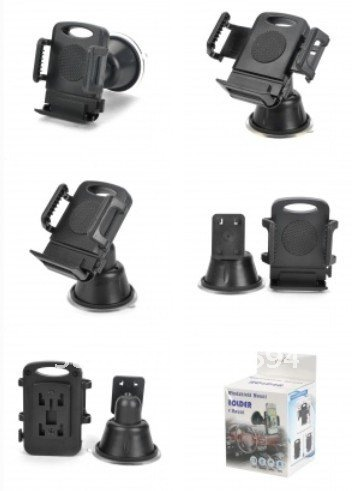 Car Windshield Mount Holder for IPHONE4S GPS MP3 MP4 - Black1.jpg