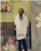 Женские толстовки и Кофты 1513 women's 2011 autumn and winter 13 long design with a hood sweatshirt dress