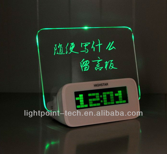 Erasable LED Message Board With Clock and Backlight LED Digital Clock